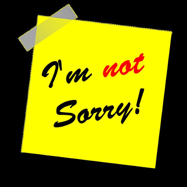 nie przepraszaj
